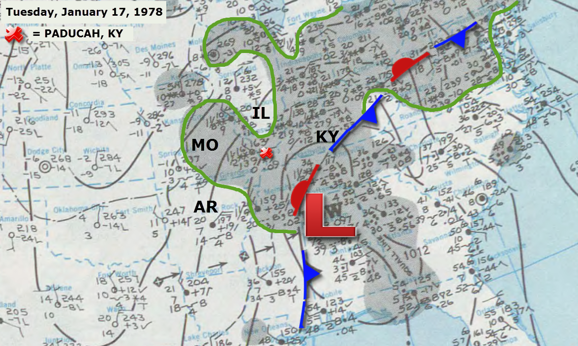 January   Remembering The Winter Storm Of - Us weather map barometric pressure