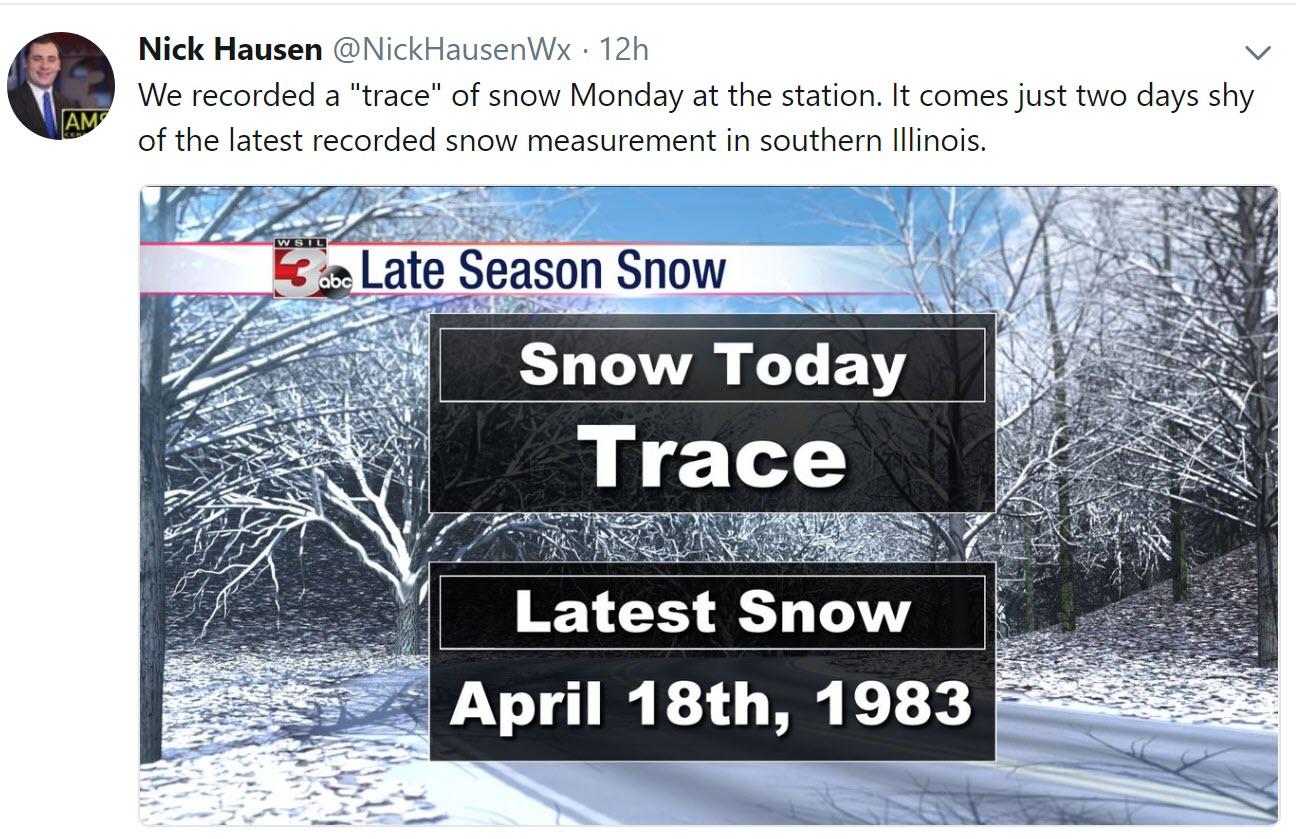 April 17, 2018  Non-subscriber update  Milder weather