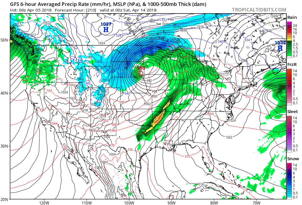 tightly packed isobars equal lines of pressure a band of showers and thunderstorms near a cold front trailing through the missouri valley